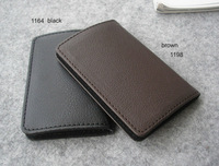 leather  men & women''s name card business card holder case pocket  stationery gift mutlicolors 1198