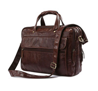 Free Shipping Hight Quality Brown 100% Genuine Leather JMD Men Portfolio Briefcase Laptop Bag Messenger Handbag #7146C