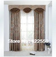 European-style high-end luxury villas coffee classic blue bedroom, living room curtain fabric