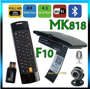Mele F10 air mouse + Android 4.2.2 webcam dual core RK3066 tv box Mini PC MK818 built in Microphone Headphone Camera RJ45