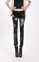 2014 Women Jeans Women Slim Thin Mid-Waist Pants Are Feet Pants Korean Brand 6632 FREE SHIPPING