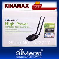 Free shipping!kinamax Password cracking,Free WIFI 300M 11N High Power 500mw Wireless WIFI USB adapter,high power wifi lan card