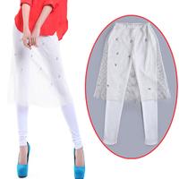 Women Leggings 2014 New Brand Fashion Cotton White Lace Trouser Black Sexy Elastic Pant Ladies High Quality Leggins P005