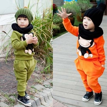 2013 New Fashion Brand Autumn clothing monkey boy long sleeve items,children's suits,children's wear,baby products,Free Shipping