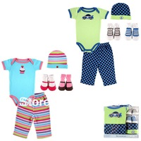 5pcs/lot  Luvable Friends 5-Piece baby Layette Set,Baby Gift Set,Fashion Baby Clothing Set,Girl and Boy Baby Sets