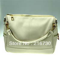 free shipping 2013Guangzhou high fashion simple style shoulder pu handbag for women