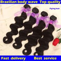 Queen hair products Brazilian virgin hair  body wave 3pcs lot,ms lula brazillian100% human hair weaves luvin hair free shipping