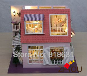 Top Quality Clay Full Multicolour Instruction Diy Model Handmade Gift Dollhouse - Love of Angel Bay(China (Mainland))