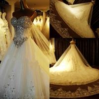 DMR003 Dreamaker 2014 The Most Popular Pure Hand Beaded Swarovski Crystals Bridal Wedding Gown