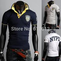 Designer Men's Casual polo Shirts man Free Shipping Summer Men polo Fashion Slim Short Sleeve Embroidered