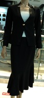 new 2014 skirt suits in women clothing set black skirt suits women's casual suits  158