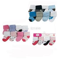 8pair/lot Free Shipping  USA Luvable Friends 8 Pack Baby boy girl Newborn Socks 0-6M