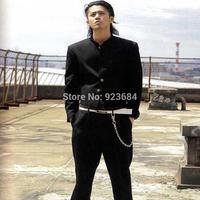 Street Wear Blazer Men Crows Zero Polyester Short Oguri Shun's Uniform Set Blazers For Men Include Blazer and Pants