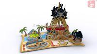 LITU 3D PUZZLE/JIGSAW PUZZLE/TOYS/PLAYING_having funs_amusement park / Pirate Ship  Style No.5442