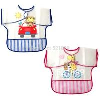 New Arrival Luvable Friends PEVA Baby Bibs Waterproof Cute Cartoon Baby Feeding Newborn Accessories Vestido