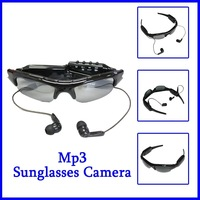 Free Shipping Mini DV DVR Sun Glasses Camera MP3 Player Audio Video Recorder Built in 4GB With CE FCC ROHS+Elegent Box