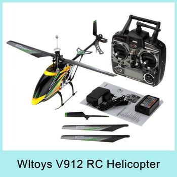 Wltoys V912 2.4g 4ch Rc Helicopter V911 Upgrade Version Single Propeller Big 52cm Radio Control Single Screw Remote Control