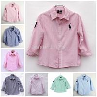 Children boy sleeve shirts Top quality kids boys shirts casual children blouses & shirts for boy outerwear 5PC/lot