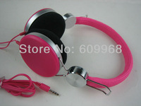 2014 kids earphone  the head sets pink/blue/black/white/green for iphone 5 auriculares de los ninos