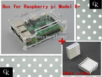 Pi case for Raspberry with 2 pcs pure aluminum heat sink raspberry pi model b plus pi box