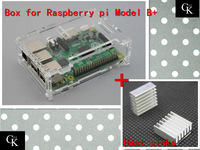 Pi case for Raspberry with 2 pcs pure aluminum heat sink raspberry pi model b plus pi box for raspberry pi BT0031-RP