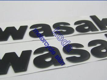 3d stickers Raised KAWASAKI TANK LEFT and Right Sides EMBLEM FOR  ER-4N ER-6N 6F EX GPX 250R 500R 650R 750R Ninja GTR1000 1400