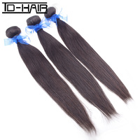 "Top quality grade 6A Indian Virgin Hair Weave Human Hair Straight Weave 12""-34"" 3pcs/lot, Natural Color 1b# TD-HAIR products"
