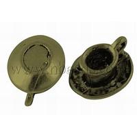Stock Deals Tibetan Style Pendants,  Lead Free,  Cup,  Antique Bronze Color,  Size: about 12mm long,  10mm wide,  7mm thick