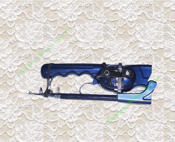 1pcs glass fiber spining reel rod Portable Folding Sea Fishing Rod with Fishing Reel,blue color,has fishing line