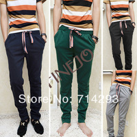 New Fashion Men's Hem Side Zipper Pants Casual Sports Trousers 29-32 Size Free shipping 10218
