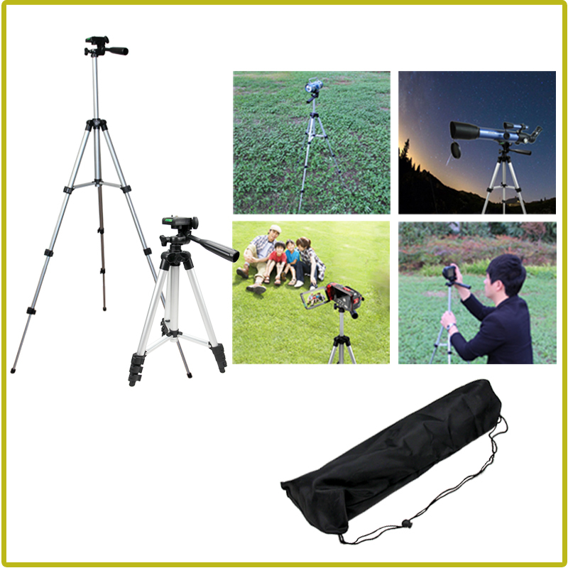 Free Shipping 1pcs Aluminum Lightweight Camera Tripod Portable for Sony Canon Nikon+Carrying Bag(China (Mainland))