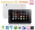 7'' built in 3g tablet pc android 4.0 with bluetooth dual camera capatitive screen + 7 days full refund +1 year free warrenty