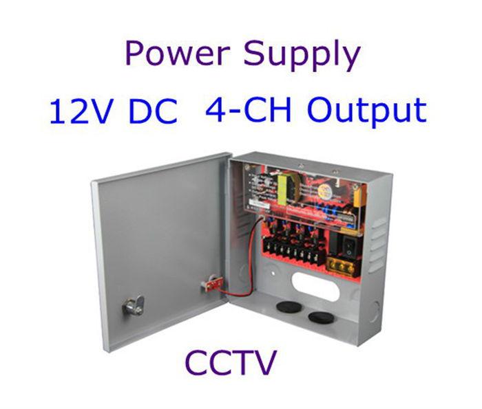 Christmas 12V DC 3 Amp 4 channel CCTV Power Supply Box Free Shipping(China (Mainland))