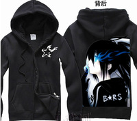 Free Shipping New Anime Black Rock Shooter BRS Clothing Hooded Sweatshirt Cosplay Hoodie Costume