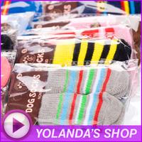 Free shipping ! Wholesale NEW Fashion Design pet Dog Socks 24 pcs / lot = 6 sets / lot
