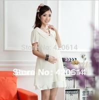 Free shipping, Fashion maternity clothing, summer maternity dresses, Chiffon dresses for pregnant women, pregnancy clothing 2255