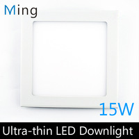 Ultra thin design 15W LED ceiling recessed grid downlight / square panel light 190mm 4pc/lot free shipping