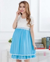 2013 Summer Fashion Maternity Clothing, Chiffon Maternity Dress For Pregnant Women, Gravida Casual Maternity Clothing