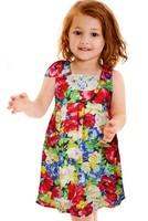girls floral dress  kids dress girls fashion kids clothing 2T-7T  free shipping