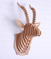 Goat head for wall decoration,home decoration wall art,wooden diy craft,wall wood,carved animal head wall,wooden home items,mdf