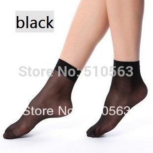 sp070 Free Shipping wholesale 8pairs Quality good Thin short  silk sock Black,deep flesh-coloured,flesh-coloured summer socks
