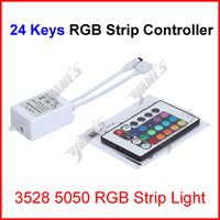 ( 200 pcs/lot ) 24 Keys RGB Led Strip Lights IR Infrared Remote Controller For 3528 5050 RGB Led Strip Lights Wholesale