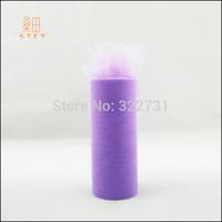 "30 Colors Purple 2 rolls/lot 6"" x 25Yard Fabric Tulle Spool Rolls Tutu Girl Skirt Gift Wrap Wedding Party Decor Free Shipping"