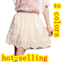 Free Shipping New 2013 Autumn -Summer Fashion Woman Spring Lace Crochet Gauze Short Half-length Skirts kirts women 2013
