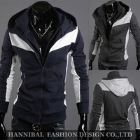 Freeshipping,Promotion ,2013 Men's Casual And Sports Hoodies And Sweater,100%Cotton Jacket,Top Brand,Double Layer Slim Stylish