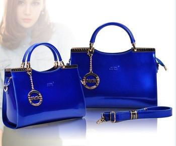 Free Shipping 2014  female bright handbag Messenger Bags shiny leather brand name designer womens shoulderbags crossbody bags