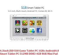 New 4.3 Inch JXD S18 Game Tablet PC Amlogic 8726-M3L 1GHz Android Game Tablet 512MB DDR3 4GB Wifi