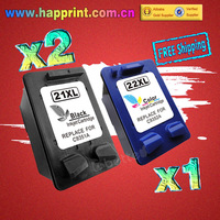 C9351AN C9352AN 21XL 22XL Refillable Ink Printer Cartridge for HP 21 22 Deskjet 3910 3920 3930v 3940v D1360 D1400 D1415.(2BK+1C)