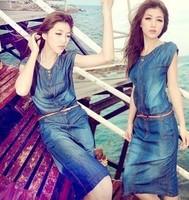 Good quality ,New Fashion women's Denim plus size loose dress Free shipping