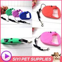 Free shipping 2013 new arrival 3M and 5M length plastic,nylon material pet dog adjustable chain dog leash,dog traction rope